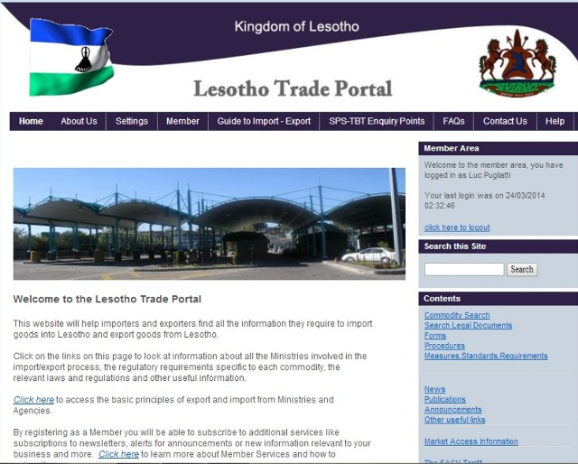 Launch of the Lesotho Trade Portal